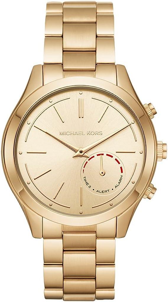 Michael Kors Reloj Mujer de Analogico con Correa en Chapado en Acero Inoxidable MKT4002: Amazon.es: Relojes