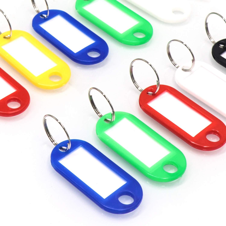 60x Schlüsselschilder mit Etikett Kofferschilder Schlüsselanhänger Namensschild