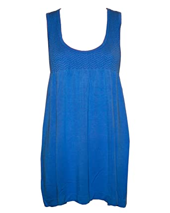 Blue Seamless Tunic Dress Smocking Top at Amazon Women&39s Clothing ...