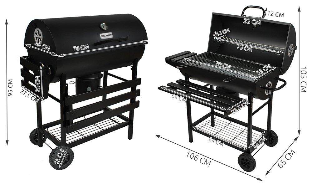 Tepro Toronto Holzkohlegrill Smoken : Malatec gartengrill holzkohlegrill bbq holzkohle barbecue smoker