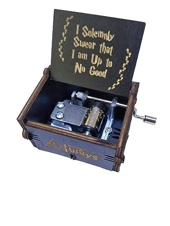 BADARENXS Premier Spieluhr,Black Harry Potter Gravur Aus Holz Dekorative  Box Reine Hand Klassischen Harry Pottre ...