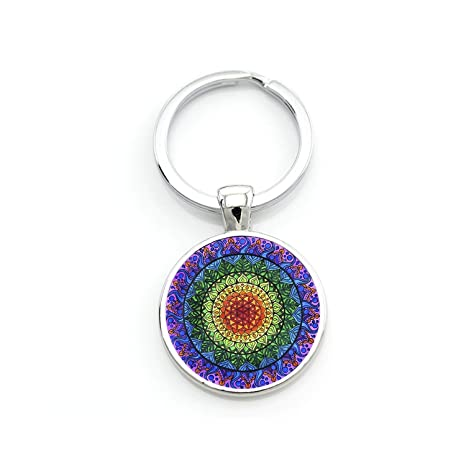 Amazon.com: Llavero Mandala flor de la vida clásico budista ...
