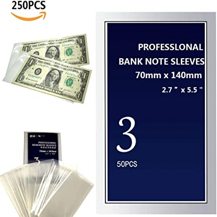 high quality 8# 90mm x 190mm 50PCS Plastic Sleeve Banknote free shipping
