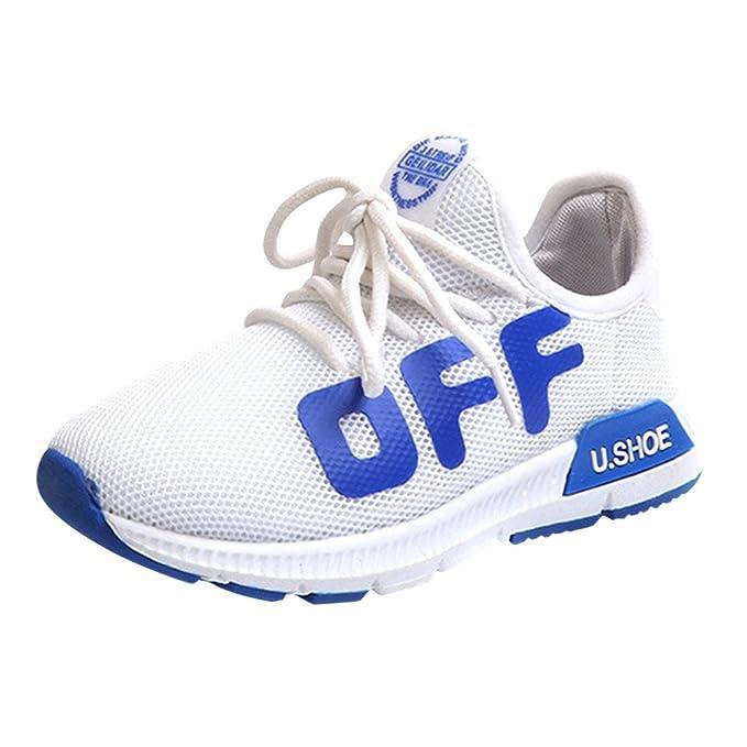 YanHoo Niños pequeños Deportes para niños Zapatos para Correr para niños Malla Suela Blanda Zapatillas de