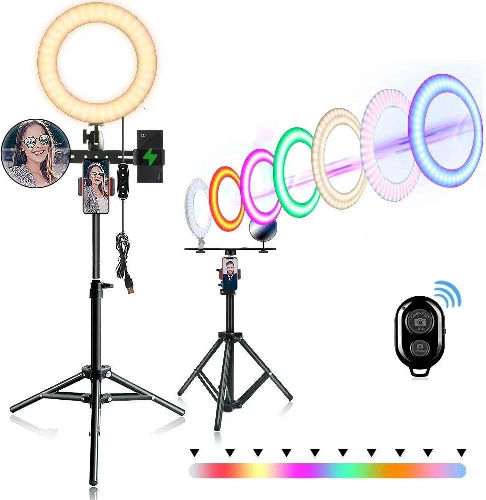 Adjustable RGB Rainbow Ring Light