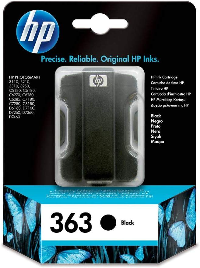 Hp 363 Schwarz Original Druckerpatrone Für Hp Photosmart Bürobedarf Schreibwaren