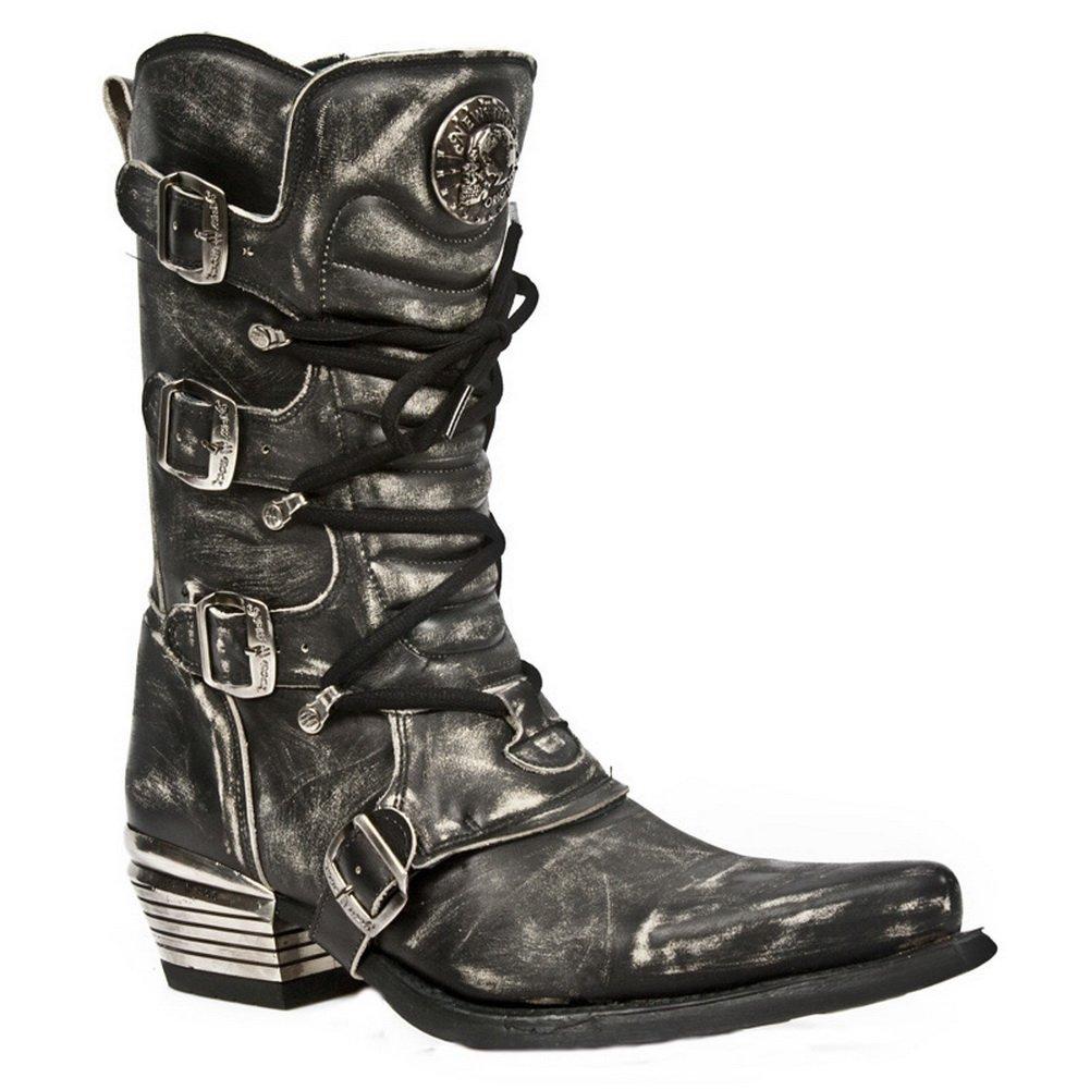 New Rock Herren Grau Dallas Leder Stiefel M.7993-S3
