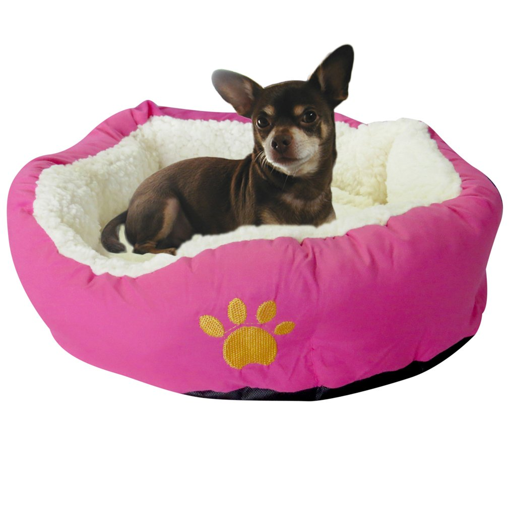 "Evelots Soft Pet Bed,Cats & Dogs, 17""D x 5""H, Assorted Colors"