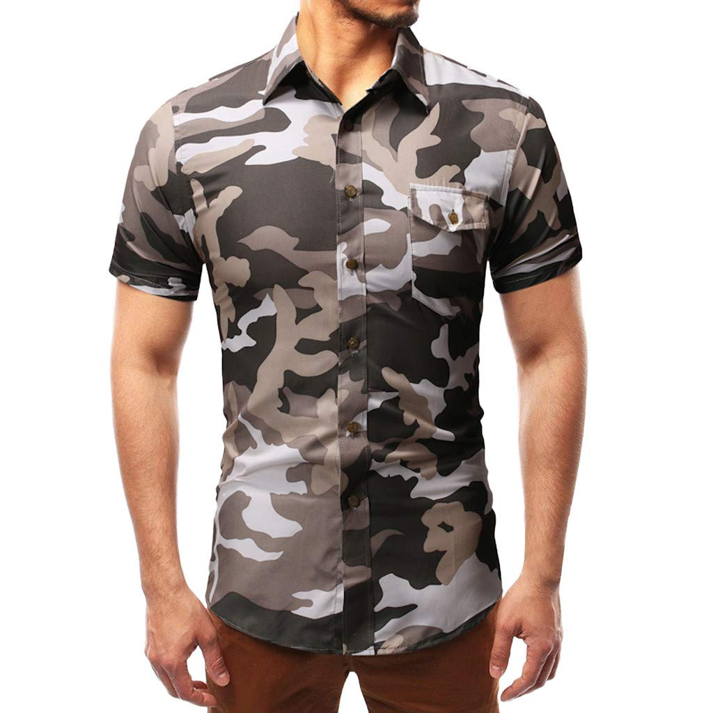 Xlala Mens T Shirt Western Cowboy 3D Printing Tops Blouse Round Neck Slim Fit Short Sleeve Personality Novelty Clothing Shirts