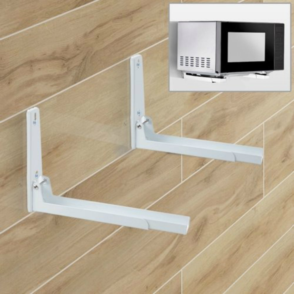 Agile-shop Foldable Stretch Shelf Rack Wall Mount Kitchen Microwave Oven Stand Bracket