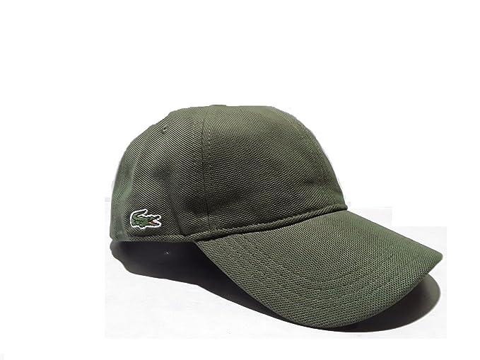 Lacoste - Gorra de béisbol - para Hombre Verde Militar L: Amazon.es: Ropa y accesorios