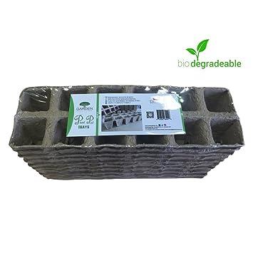 Maceteros de turba bandejas (10 unidades de 120 celdas) – Semillas – Macetas para