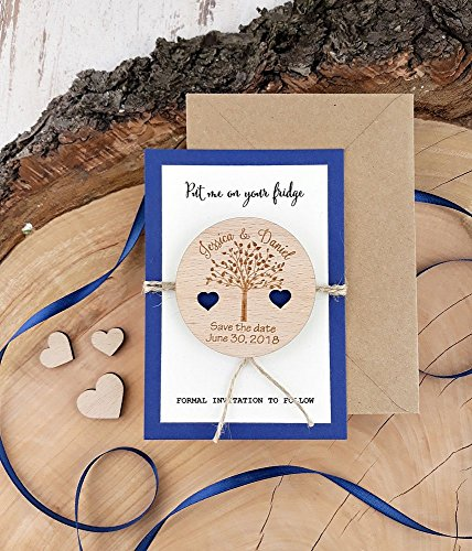 Wedding Wood SavetheDate Magnet Wood Magnet Wooden Magnet Save The Date Magnet Wooden Save The Date Magnet Rustic Save The Date