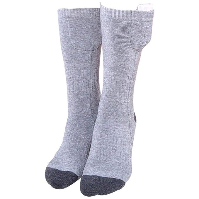 iBaste_S 1 Pcs Unisex Calcetines eléctricos con calefacción USB Mantener el calentamiento Calcetines de algodón para el invierno, Medias de calcetería ...