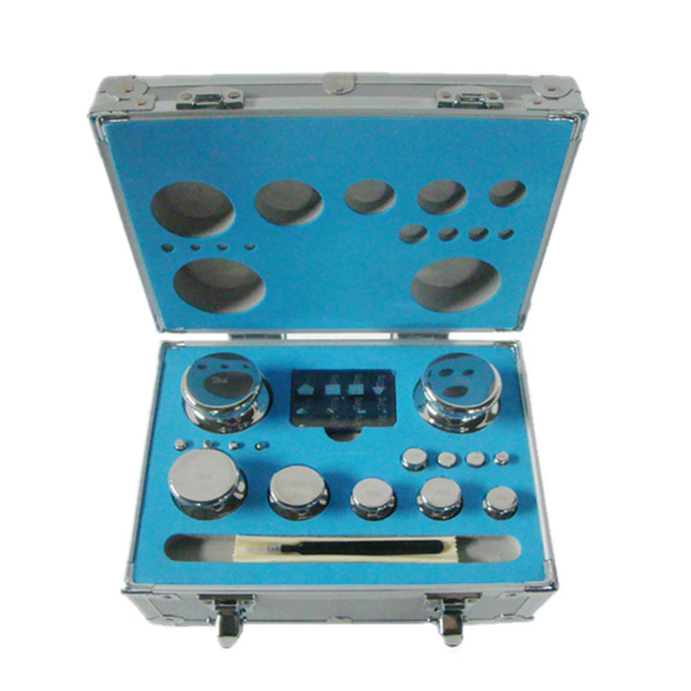 CGOLDENWALL M1 Scale Balance Calibration Weight Set Balance Weight Kit Set for Digital Balance Scale Jewellery Scale Electronic Lab Scale Scale Accessories (1mg/2kg)