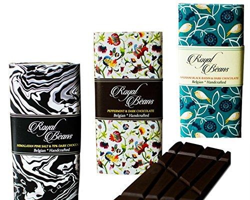245289569e7 Royal Beans Chocolate - Artisan Dark Chocolate Bars (Pack of 3 ...