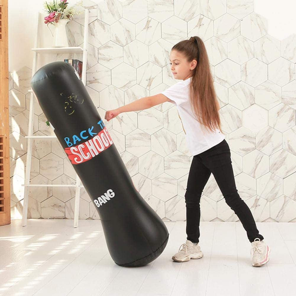 foyar Inflatable Boxing Bag Sandbag Free Standing Thickened Boxing Punching Bag Burn Calories Release Stress Tumbler Punching Column For Adult Children Fitness Exercising
