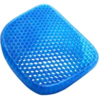 Gel Seat Cushion, for Pressure Relief Back Tailbone Pain Breathable Honeycomb Design Home Office Chair Cars Wheelchair with Non-Slip Cover 15x11.8inch