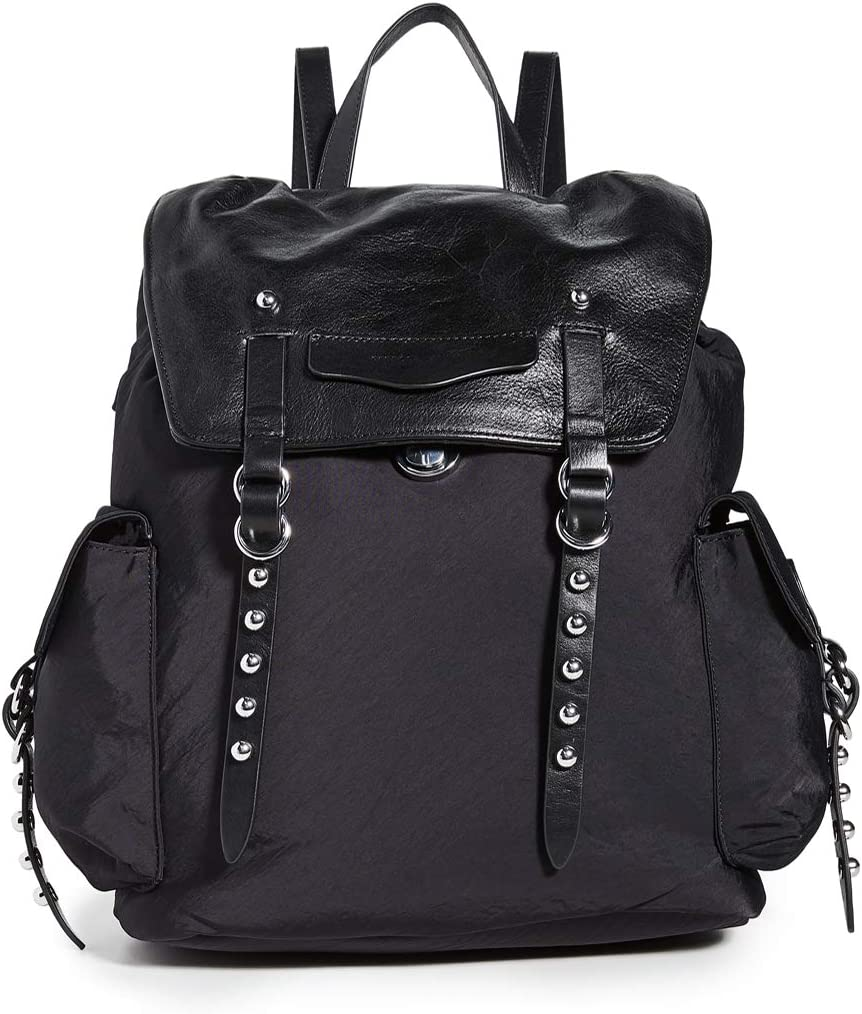 Rebecca Minkoff Bowie Nylon Backpack, BLACK