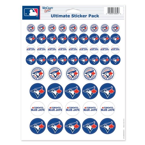 (WinCraft MLB Toronto Blue Jays Vinyl Sticker Sheet, 8.5
