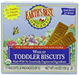 Earth's Best Organic Toddler Biscuits, Wheat, 12 Bars 4.6oz (Pack of 12)