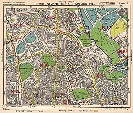 Tottenham London Map.Amazon Com Ne London Stoke Newington Stamford Hill Clapton South