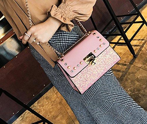 Olici Singolo Quadrato Catena Bag Moda Estate Nero Personalità Burlone Rosa Piccola Barbona Mini Di Spalla 848Owrq