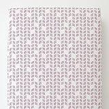 Carousel Designs Amethyst Tribal Herringbone Toddler Bed Sheet Fitted