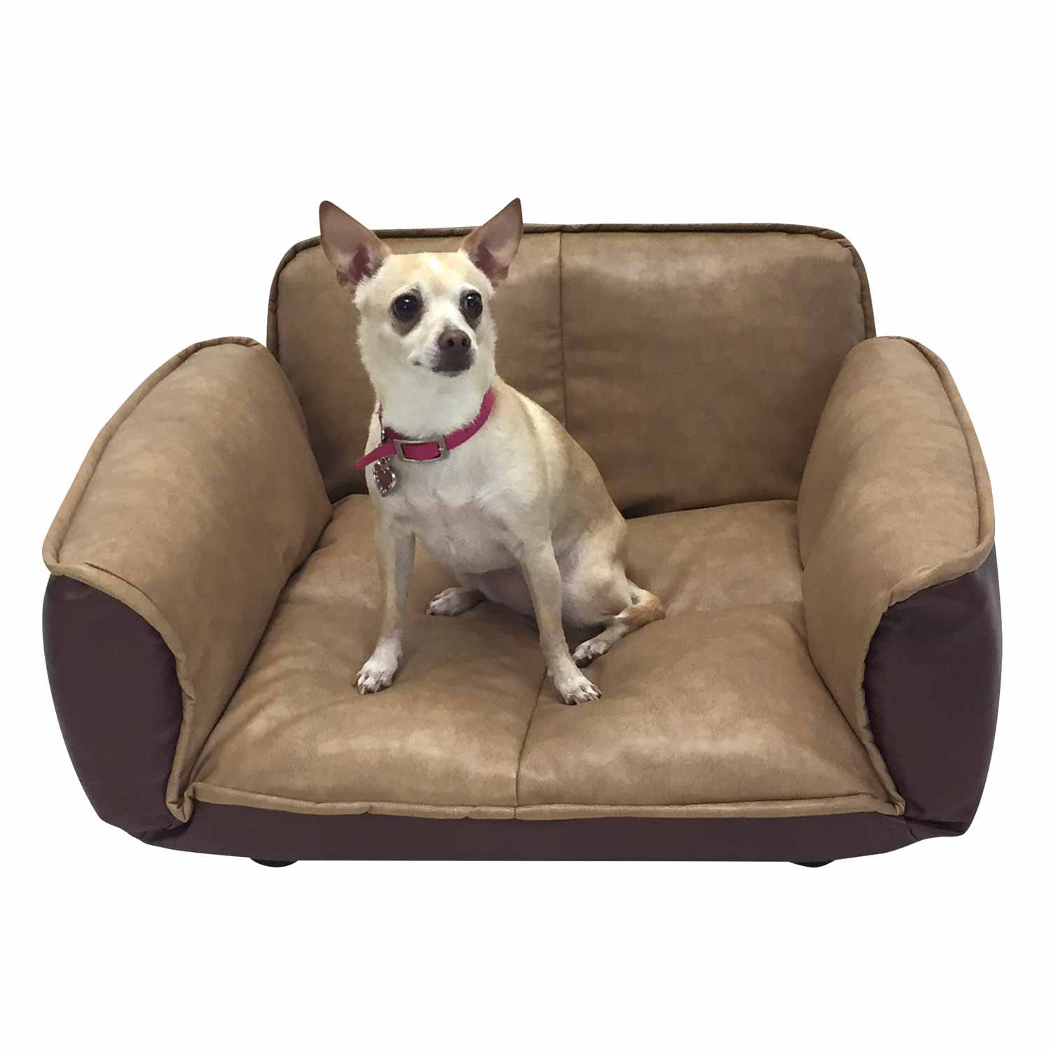 Amazon Dog Couch Leather Dog Bed Reclining Pet Sofa With