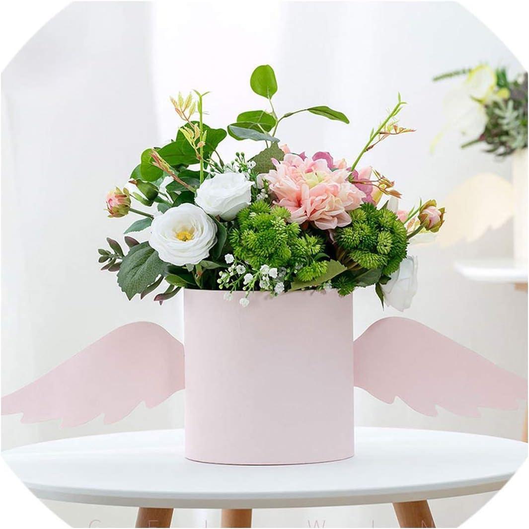 Amazon Com Flower Arrangement Box With Lid Flower Bucket Florist Bouquet Rose Boxes Floral Gift Packaging Box Wedding Diy Decor Pink 18w X18h Cm Health Personal Care