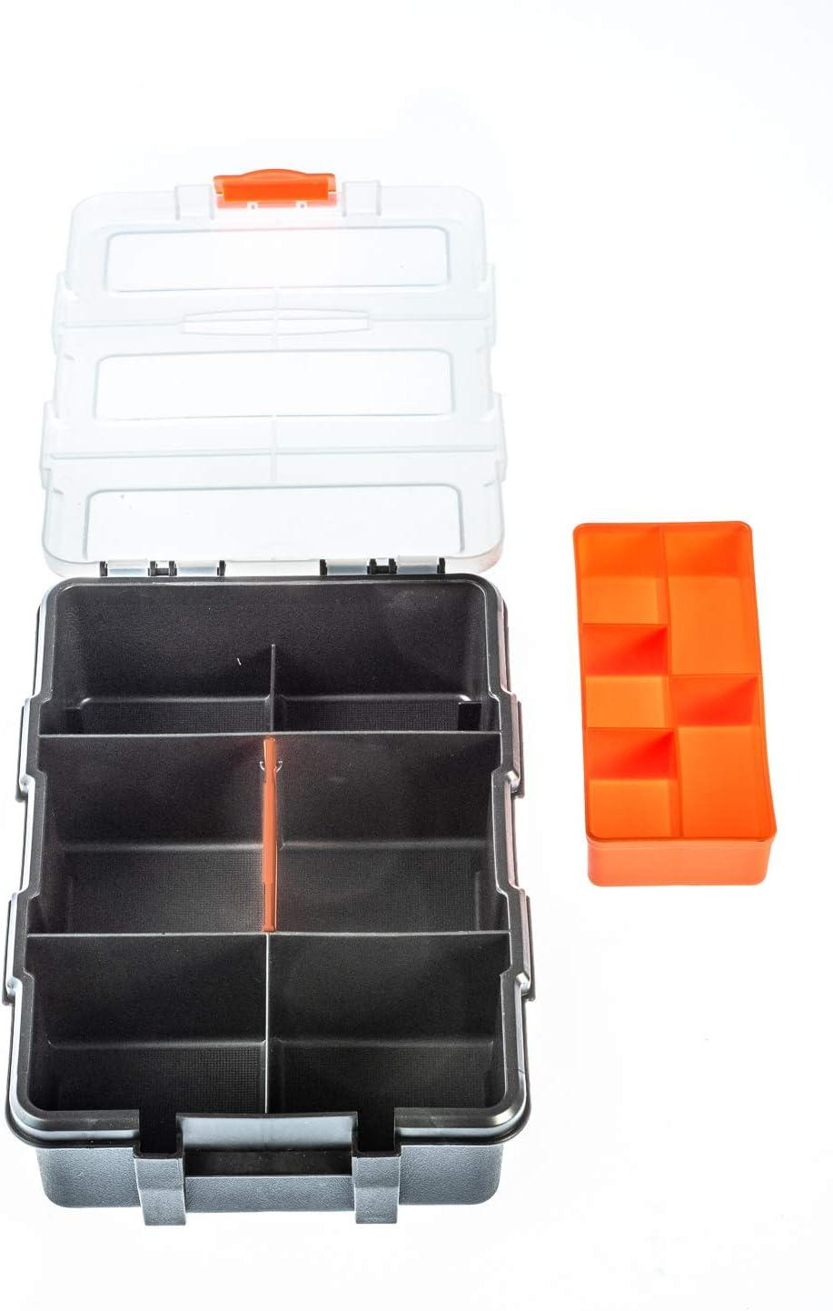 SE 87113DB Contenedor de plástico multisección (8.5 x 6 x 2.25 pulgadas): Amazon.es: Bricolaje y herramientas