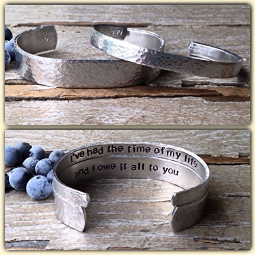 7f0311f20af98 I've had the time of my life ..... And i owe it all to you - his and hers  custom secret message bracelet - couples gift idea - hers and hers gift  idea ...