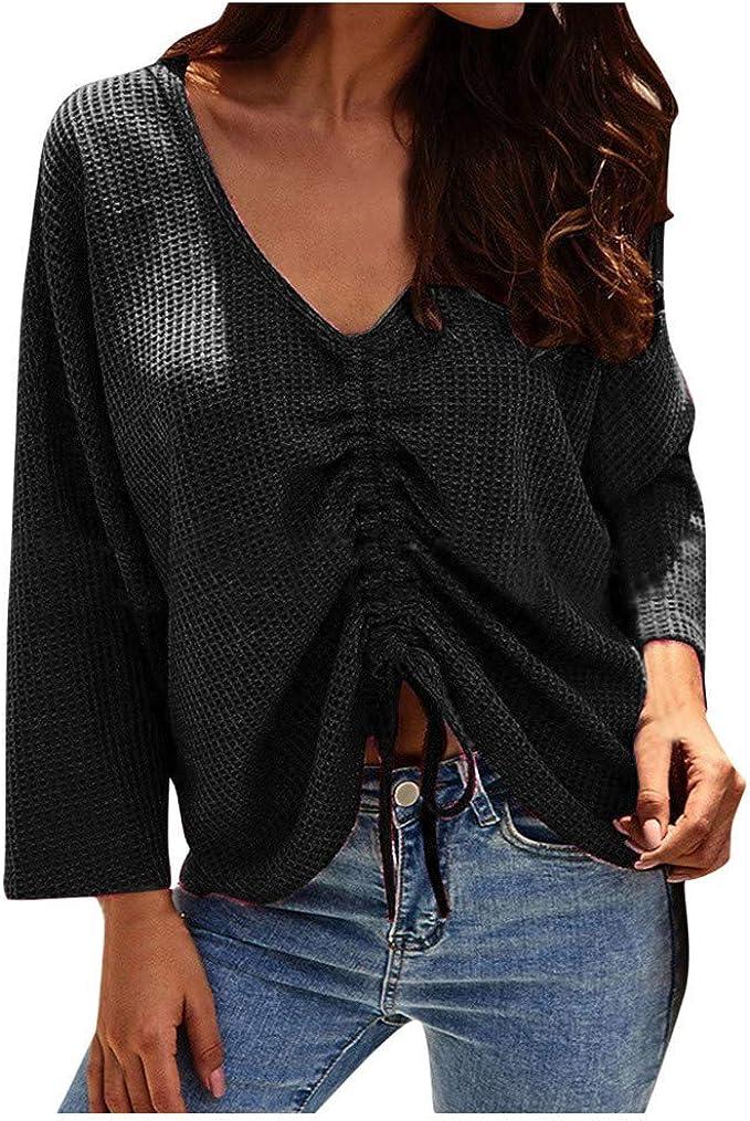 HEFYBA Camisa de cuello en V para mujer, talla grande ...