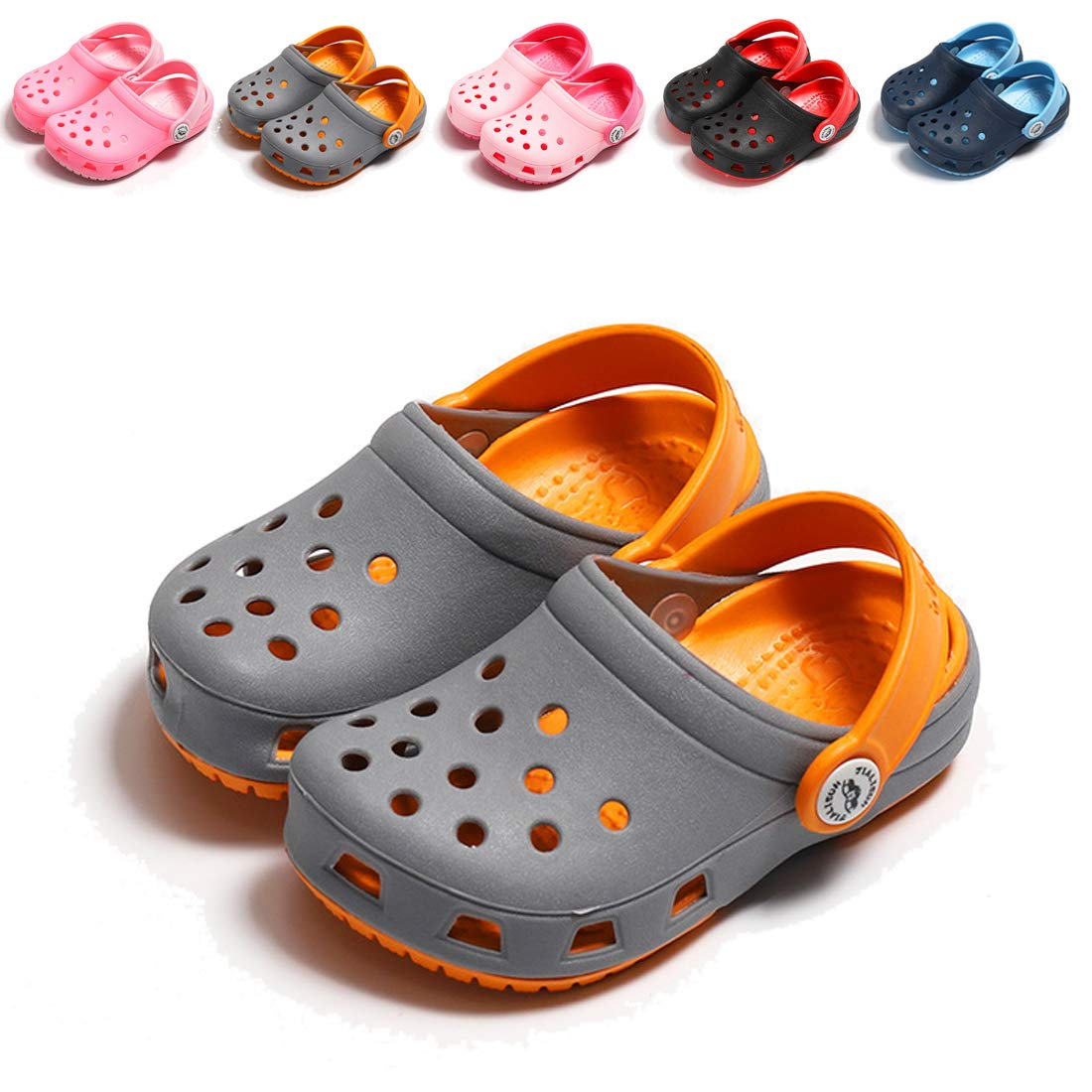 BEBARFER Toddler Kids Boys Girls Classic Clogs Slip On Garden Water Shoes Lightweight Summer Slippers Beach Sandals Toddler//Little Kids