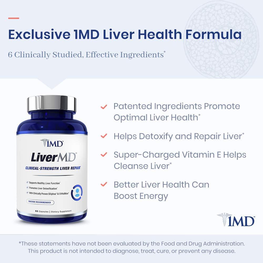 Amazon.com: 1MD LiverMD - Suplemento de limpieza del hígado ...
