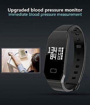 HOMESTEC Presión Arterial Pulsera Fitness Tracker S7 Smart Reloj con spo2h Heart Rate Monitor Podómetro de gestión de Dormir con OLED Pantalla táctil ...
