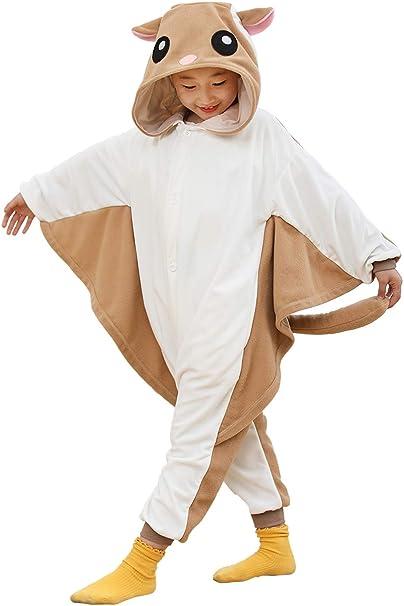 Unisex Children Animal Pajamas Luxury Fleece with Pocket One-Piece Cosplay Costume for Kid Halloween