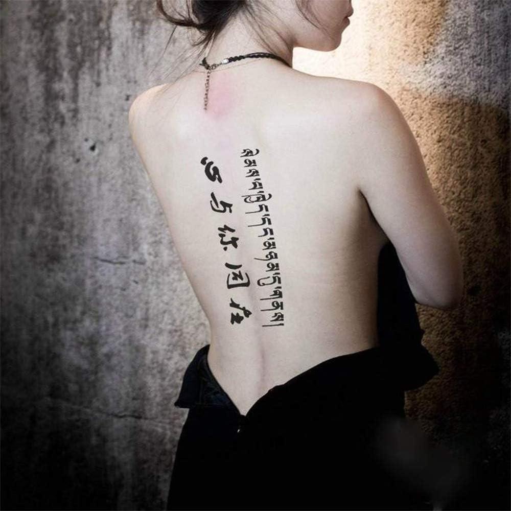 Tatouages Temporaire Ecriture Phrases Chinoise Tibetaine Pour Homme Et Femme Tatouage Ephemere Avant Bras Jambe Mollet Bras Nuque 21 X 15 Cm Amazon Fr Beaute Et Parfum