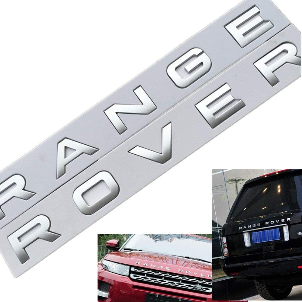 Silvber 3D Metal SUPERCHARGED Emblem Trunk Lid Dash Sticker Fender Badge