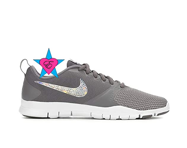 9b5c67c27fbf7 Amazon.com: Custom Crystal Bling Gray Women's Nike Flex Essential ...