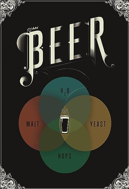 beer venn diagram poster self adhesive poster 12 x 18 inches