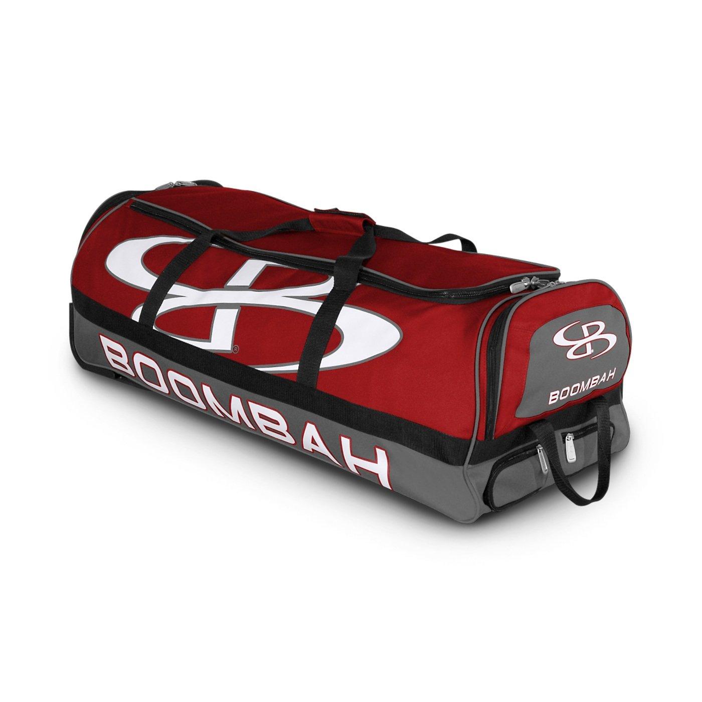 (ブームバー) Boombah Bruteシリーズ キャスター付きバットケース 野球ソフトボール用 35×15×12–1/2インチ 49色展開 4本のバットと用具を収納可能 B01N591BDP レッド/グレー レッド/グレー
