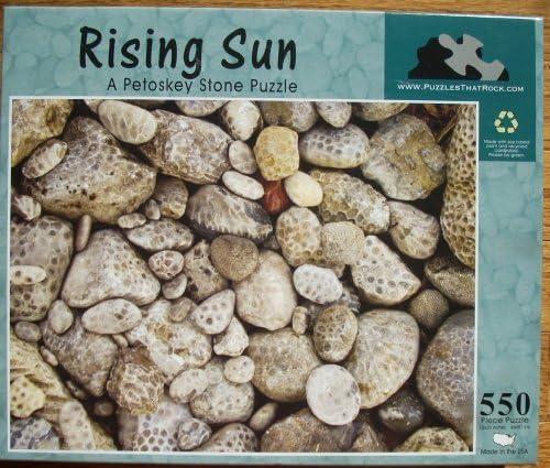 RISING SUN - A Petoskey Stone Puzzle - 550 pieces by Puzzles That Rock: Amazon.es: Juguetes y juegos