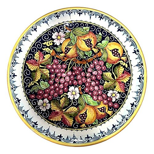 CERAMICHE D'ARTE PARRINI - Italian Ceramic Art Pottery Hand Painted Plate Flat Dish Decorated Deruta Made in ITALY Tuscan