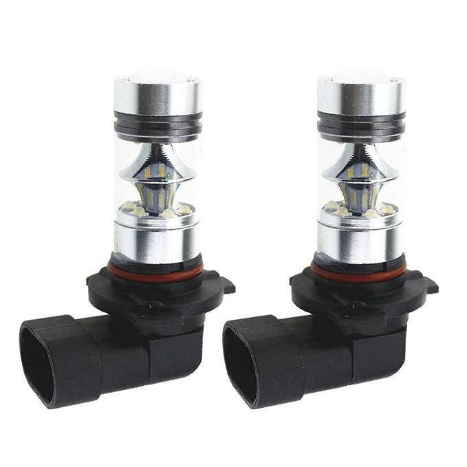 2 opinioni per Demiawaking 2 x 9005 HB3 H10 6000 K 100 W lampadina LED Proiettore Nebbia Guida