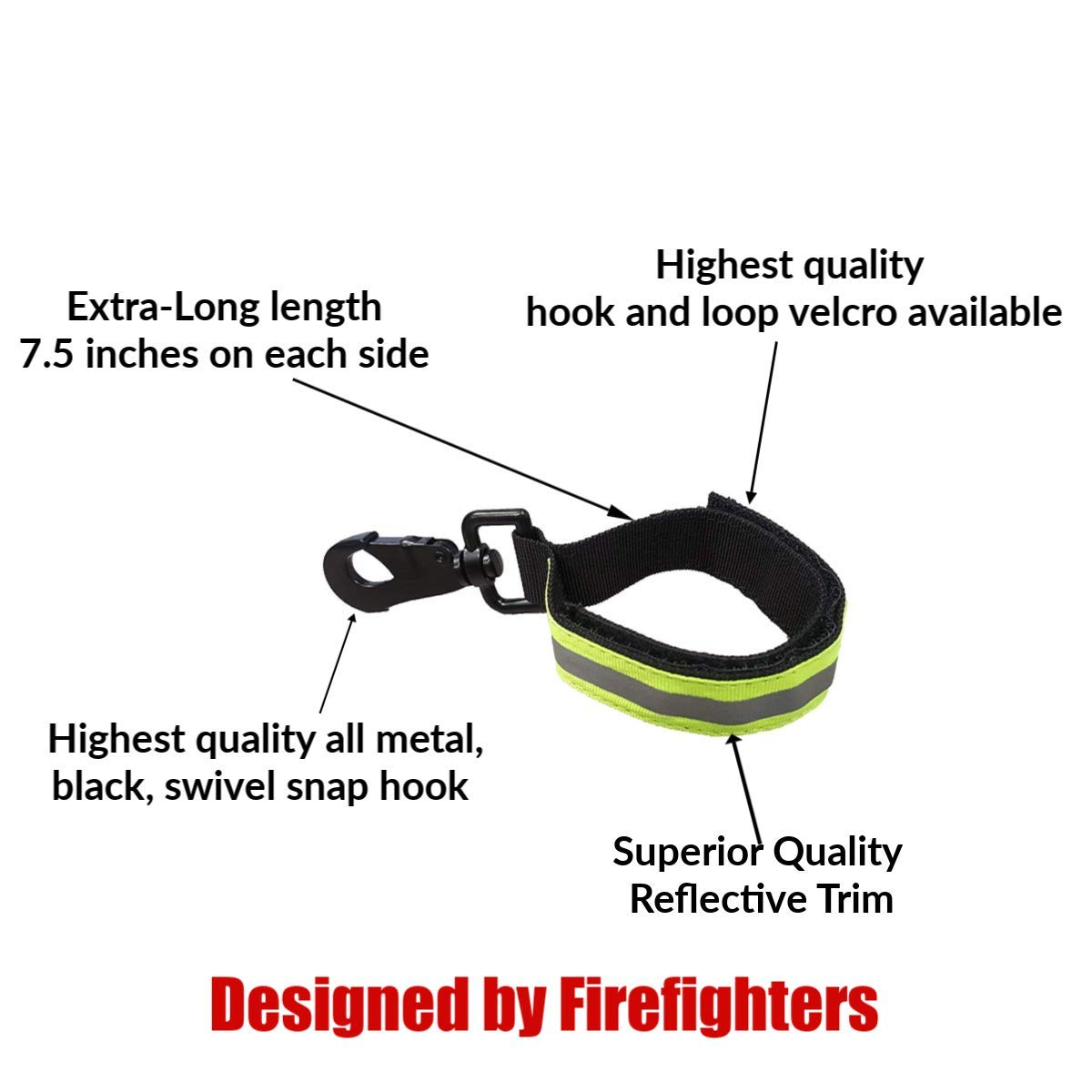 Tools Firefighter Bundle - 1 - Cut Resistant Extrication Gloves (Large) | 1 - Glove Strap (lime Green) | 1 - Drag Strap | 1 - Shove Knife | 1 - Firefighter Log Book (Track training hours, Run activit by Generic (Image #6)