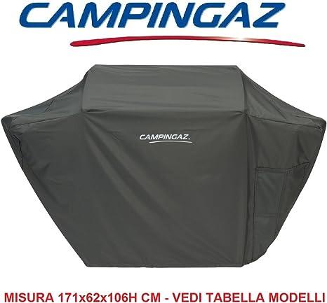 Bâche Campingaz pour barbecue Modèle BBQ Premium XXXL 100 % polyester Gris foncé Doté d'un cordon de fermeture Dimensions 171 x 62 x (h) 106 cm