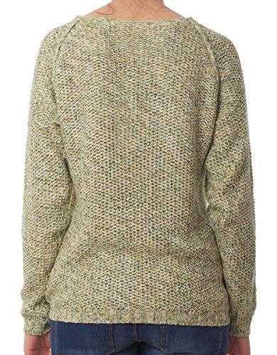 Only Multi Pearl L/s Pullover Knt femmes, t-shirt, vert