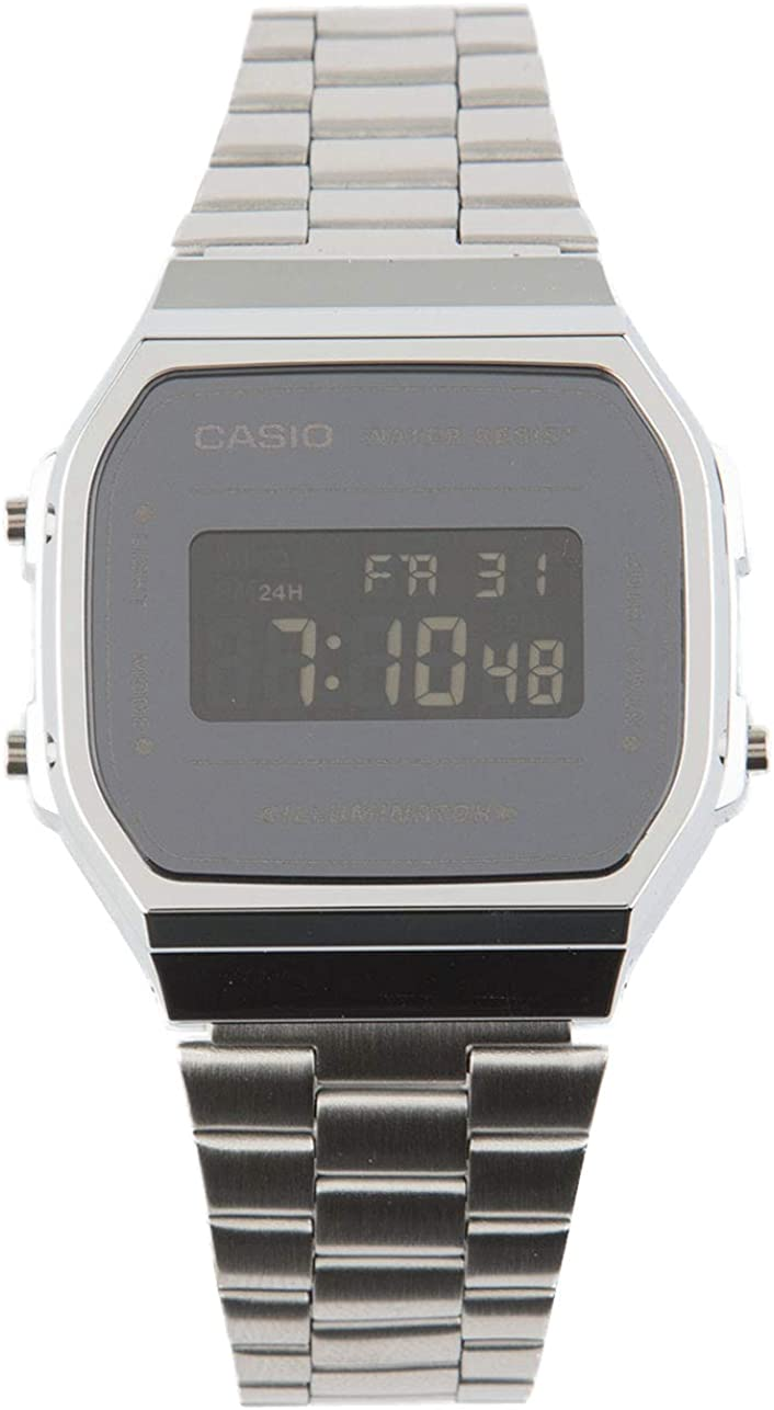 Casio Unisex A168WEM-7VT Watch Silver