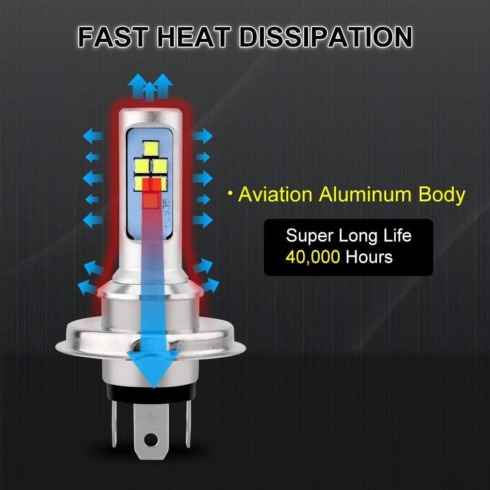 Super bright.Headlight Bulb LED Motorcycle 1x H4 BA20D DC 6V-14V 12W good DP